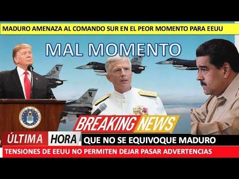 Maduro provoca al Comando Sur en el peor momento