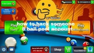 HOW TO HACK SOMEONE  8 BALL POOL ACCOUNT IN [HINDI] NO ROOT BEST METHOD- GET FREE BILLIONS OF COINS