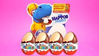 Super Surprise EGG Set with 4x Kinder Surprise - The Happos Family