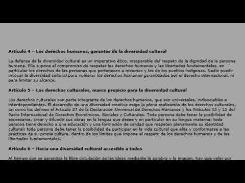 Declaración universal de la UNESCO sobre la diversidad cultu