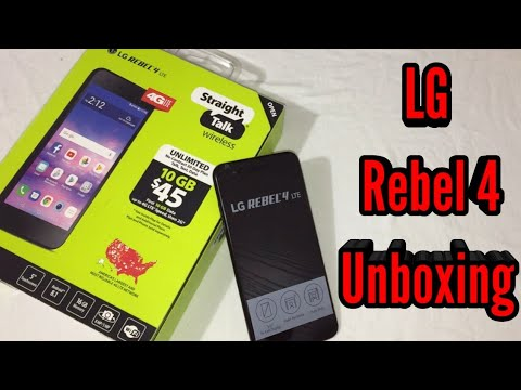 LG Rebel 4 Unboxing & First Look (Straight Talk)