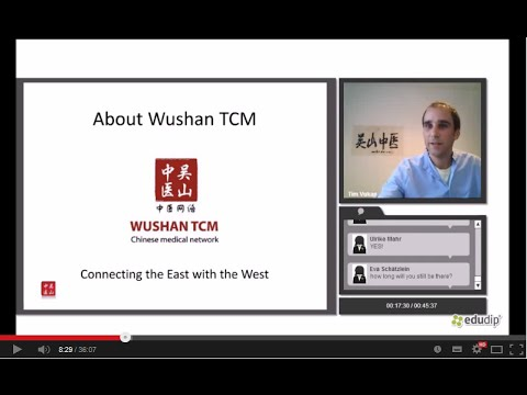 Distance Education Courses from China - Introduction Webinar by Wushan TCM