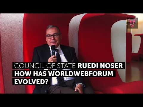 Council of State, Reudi Noser on WORLDWEBFORUM