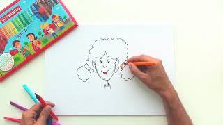 تعليم الرسم للمبتدئين- فتاة