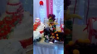 """Свадебный стол с подарком от кафе """"Руслан"""""""