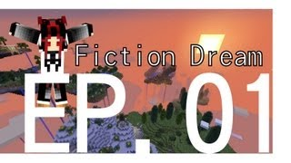四月april的minecraft生存冒險 fiction dream ep 01 找個石頭這麼難