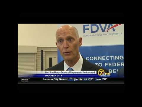 ICYMI - WJHG: Governor Rick Scott Honors Local Veterans in Panama City