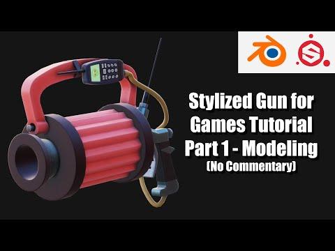 Gun from Sunset Overdrive - Game Asset Tutorial Part 1 (Blender 2.8, Substance Painter) thumbnail