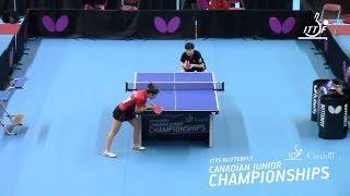 Claudia Infante (CL) vs Laura Lai (CA) - 2018 Canadian Junior Championships - Full Match