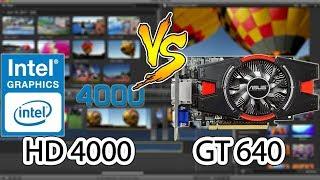 Intel HD 4000 VS GT640 - Final Cut Pro - Intel Quick Sync vs OpenCL