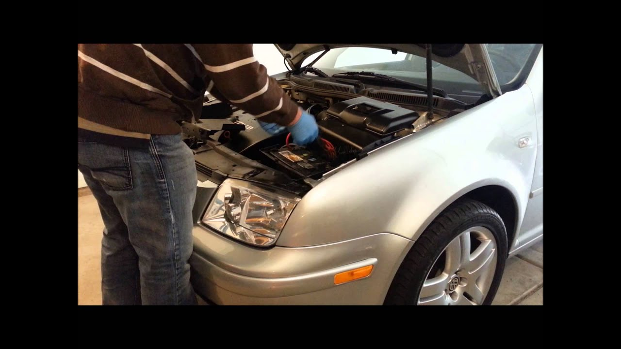 maxresdefault how to remove replace battery on a mk4 vw jetta golf gti battery 2002 vw jetta fuse box on top of battery at crackthecode.co