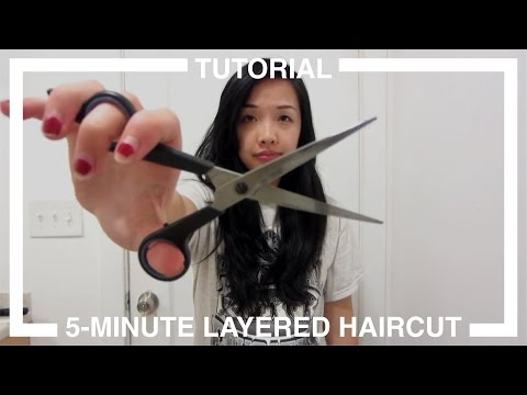 5 Minute Layered Haircut Tutorial