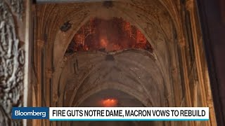 Macron Vows to Rebuild Notre Dame Cathedral Ravaged by Fire
