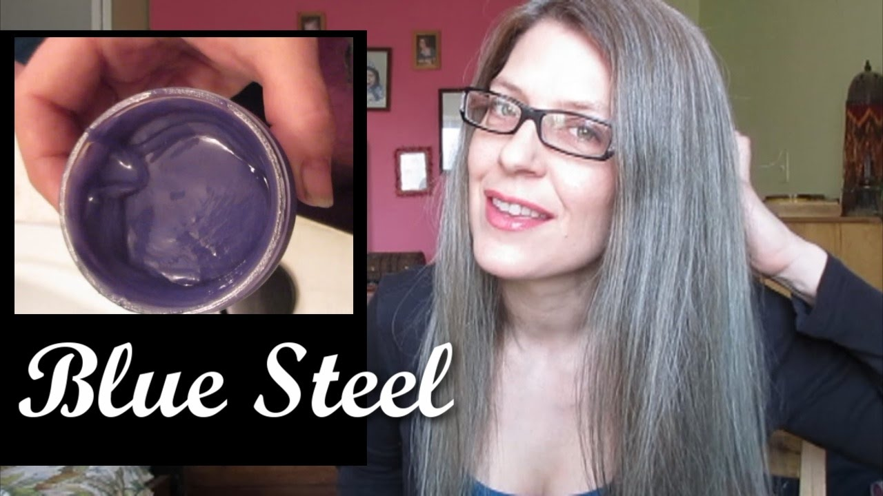 DYEING MY HAIR MANIC PANIC BLUE STEEL Mature 50 Grey