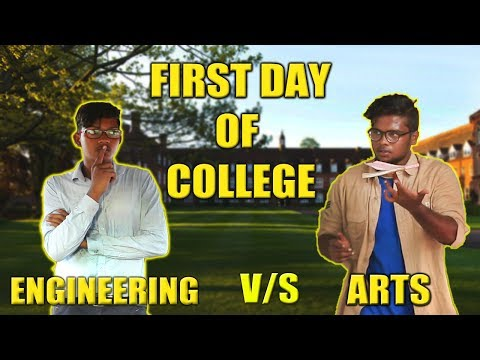 FIRST DAY OF COLLEGE ENGINEERING VS ARTS | STARBUCKS KARUVADU