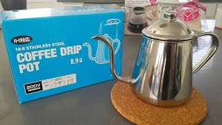 Pour over coffee with the Takahiro drop coffee pot. Here are all th...