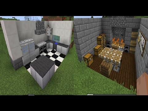 Vanilla Minecraft Medieval And Modern Kitchen Tutorial Youtube