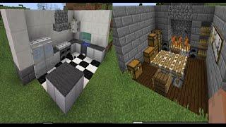 minecraft vanilla kitchen modern medieval tutorial