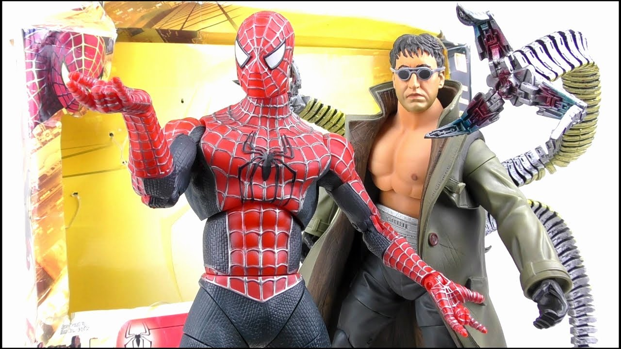 SPIDER-MAN 2 Spider-Man u0026 Doc Ock 12  Figure Set Nostalgic Review   StephenMcCulla  sc 1 st  YouTube & SPIDER-MAN 2 Spider-Man u0026 Doc Ock 12
