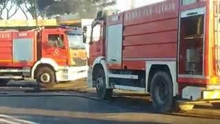 Incendio sulla Salaria esplode autocisterna