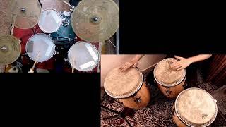 Lockduown Rumba - Conga / Drums duet (Zildjian Cymbals / Remo Crown Percussion)