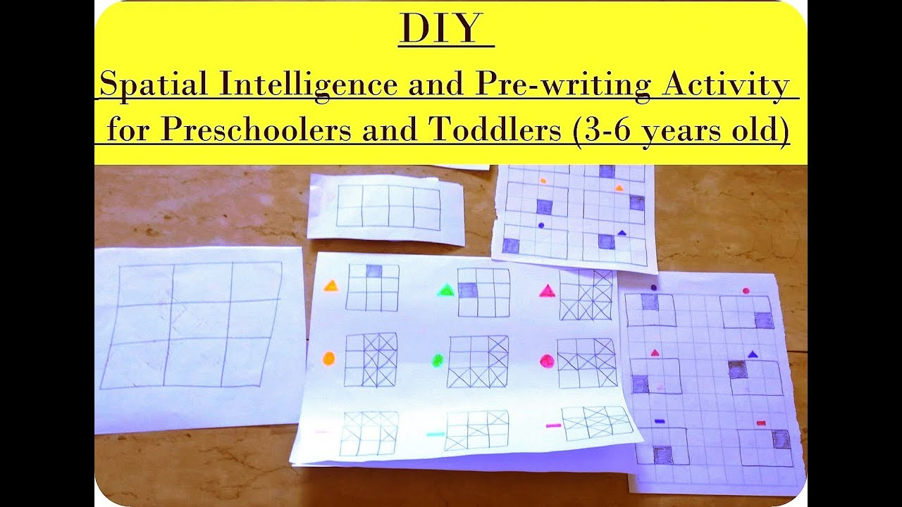 Diy Spatial Intelligence And Pre Writing Activity For Preschoolers