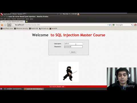 Udemy SQL Injection Master Course :  Lecture 25   post injection challenge solution 10