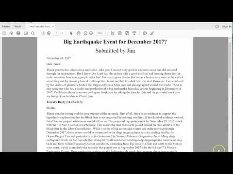 Big Earthquake Event for December 2017?