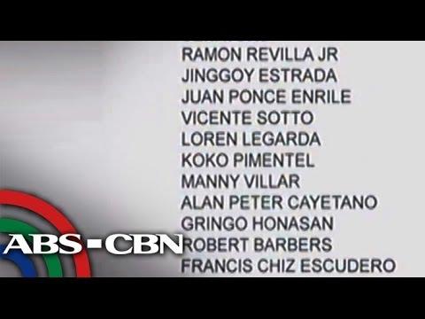 TV Patrol: 11 Senators, 3 Cabinet Members In De Lima's 'Napoles List'