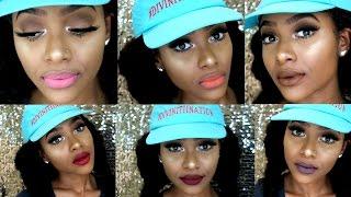 Lena Cosmetics Huge Liquid Lipstick Haul/ Swatch Video | PETITE-SUE DIVINITII