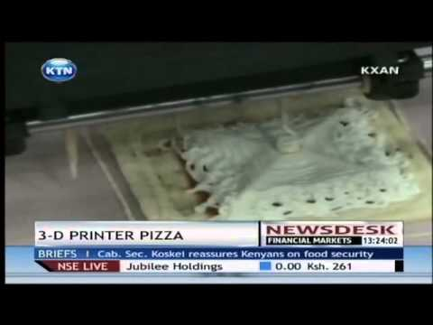 Pizza made from a 3D printer
