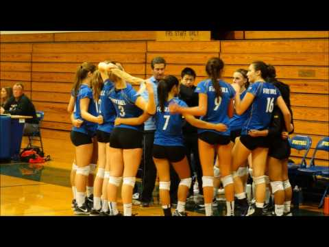 Foothill HS Girls Varsity Volleyball 2016 vs. Maria Carrillo HS - 11/01/2016