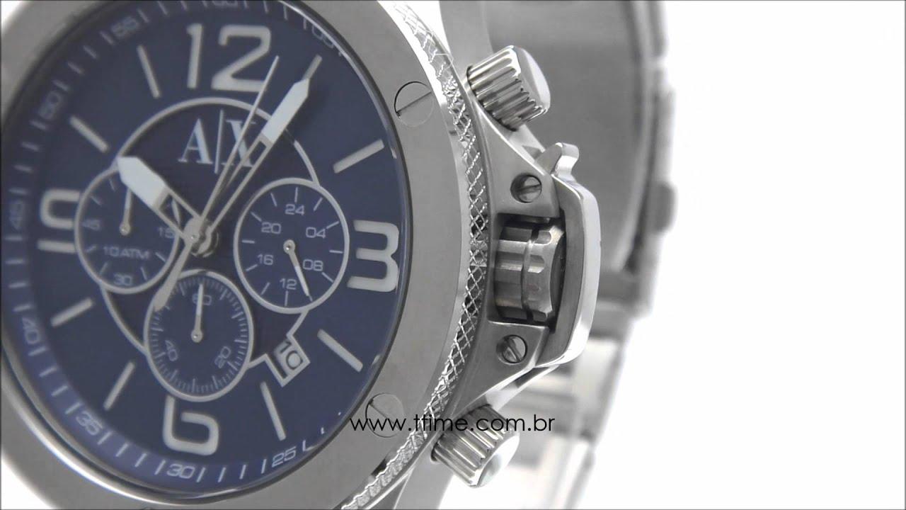 6a1bfc8e2a1 Relógio Armani Exchange AX1512 1AN - YouTube