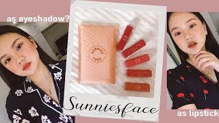 SUNNIES FACE FLUFFMATTE ON MY LIDS & LIPS?! SWATCH & REVIEW | ASHLEY SANDRINE