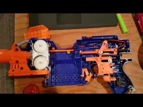 Nerf stryfe worker mod flywheel motor barrel wiring update kit