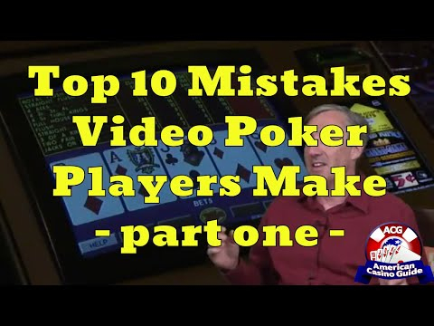 Top 10 Mistakes Video Poker Players Make With Mike