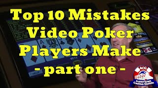 """Top 10 Mistakes Video Poker Players Make with Mike """"Wizard of Odds"""" Shackleford - part one"""