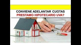 Conviene adelantar Cuotas de Un Prestamo Hipotecario UVA?