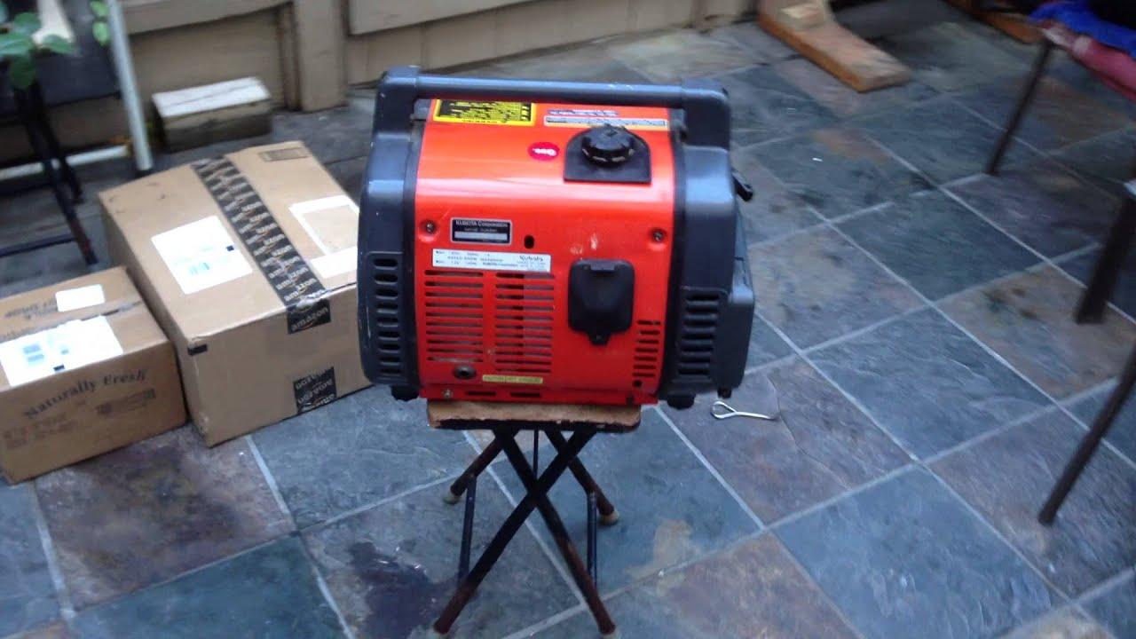 Kubota Generator Av650 Running