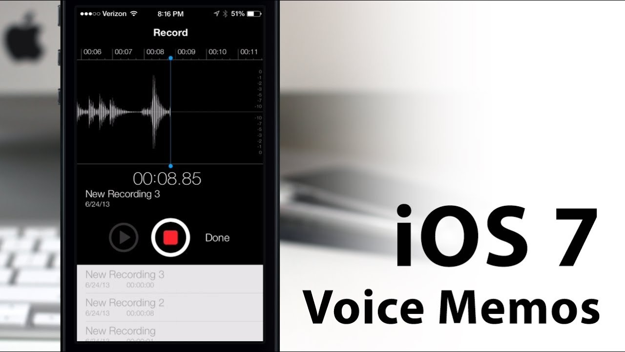 how to download voice memos from iphone on ios 7 voice memos app new design layout 20021