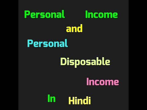 Personal Income and Personal Disposable income (class Xll Economics)