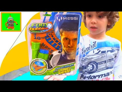 Messi Foot Bubbles challenge  Juegos y Juguetes con Ares Fail Toy