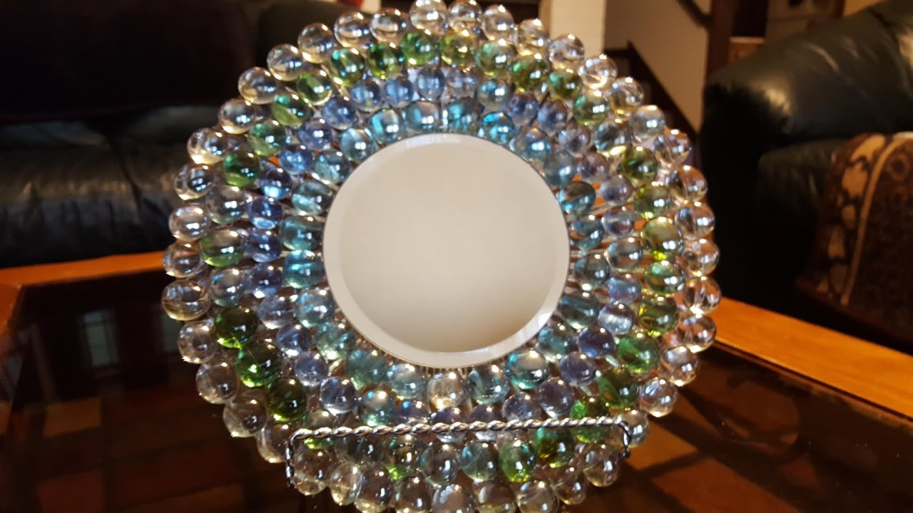Mirrored Plate With Gems Dollar Tree Crafts Youtube