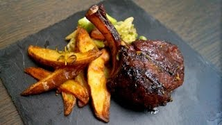 Grilled Venison On The Big Green Egg Mini - Deer Rib Steak With Rosemary And Honey Vinaigrette