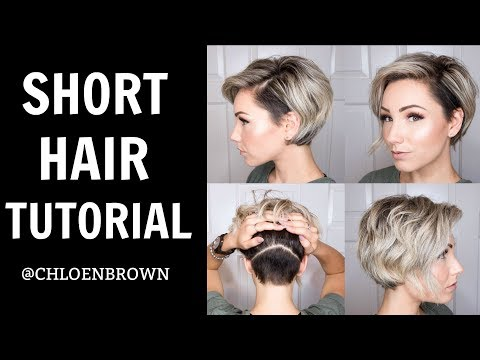 SHORT HAIR TUTORIAL || WET TO DRY STYLING