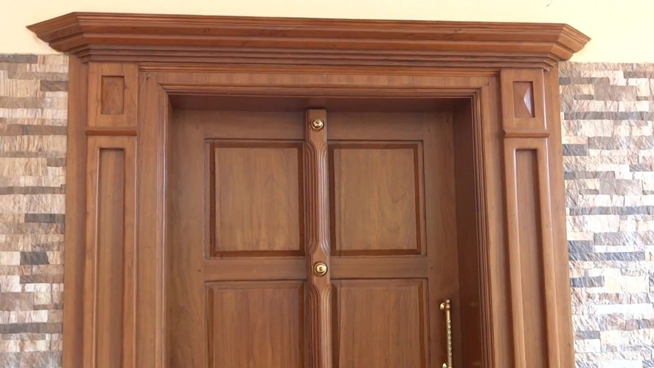 Kerala Style Front Door For House Youtube
