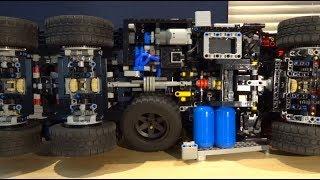 Mercedes Zetros 2733 - Behind the MOC - Lego Technic + SBrick + BuWizz