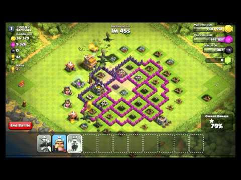 Clash Of Clans all level 1 dragons raid