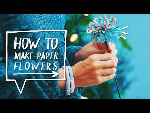 🌻-diy-magazine-flowers-|-how-to-make-paper-flowers-out-of-magazines-|-life-hack-✨alejandra's-styles