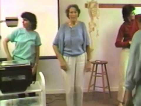 Marion Rosen teaching movement with Frank Otiwell Fall 1986